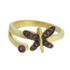 Anel Zircônia Lesprit DAE5901 Dourado Rubi