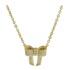 Colar Laço Zircônia Lesprit 4021 Dourado Cristal