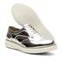 Sapato Oxford Plataforma Feminino Couro Nobuck 300 Prata Spechio