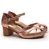 Sandalia Feminina Retrô Bahamas em Couro Legítimo Bronze Pink