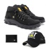 Bota Caterpillar Adventure Preto 1015 + Boné Trucker CAT Preto + Carteira