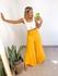 Calça Pantalona CF Amarelo