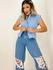 Camisa Muscle Elisa Azul