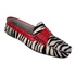 Mocassim em Couro Zebra / Vermelho