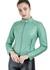 Jaqueta de Couro Feminina Verde Verônica