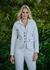 Jaqueta de Couro Feminina Branca Amy