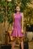 Vestido de Couro Feminino Fuscia Lívia