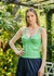 Regata de Couro Feminina Scarlatt Verde
