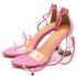 Sandalia Juliette Salto Alto Transparente Pink