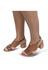 Sandália de Salto em Couro Conhaque