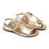Sandália Feminina Dourada Patch Infantil Gats