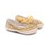 Sapatinho Dourado Bordado Infantil Gats