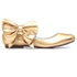 Sapatilha Laço Cristal Ouro