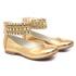 Sapato de Tornozeleiras Dourado Infantil Gats