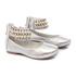 Sapato de Tornozeleiras Prata Infantil Gats