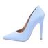 Sapato Feminino Scarpin Verniz Azul Bebê