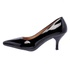 Sapato Feminino Scarpin Salto Baixo Verniz Preto