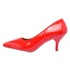 Sapato Feminino Scarpin Salto Baixo Verniz Vermelho