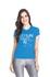 Camiseta Baby Look Dry Fit Running For Jesus Azul