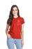 Camiseta Baby Look Guarde Seu Coração Vermelho Terracota