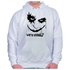 Moletom Unissex Coringa Why So Serious - Branco
