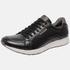 Sapatênis Jogging Em Couro Mega Boots 12032 Preto-Chocolate