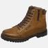 Bota Coturno em couro Mega Boots 6016 Taupe-Café