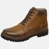 Bota Coturno em Couro Mega Boots 6033 Taupe-Cafe
