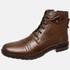 Bota Urbana em Couro Mega Boots Chocolate-Café 50002