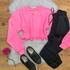 Blusa Cropped Moletom Pink