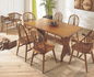 Sala De Jantar Com Mesa Pé Central 1,60m x 0,90m + 6 Cadeiras Em Madeira Maciça - Imbuia