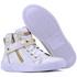 Bota Sneaker Casual Mr Gutt em Couro Legítimo Branco com Pedras