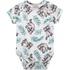 Body Milon Bebê Masculino Estampado Cinza Mescla