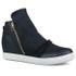 Tênis Siena Sneakers Preto Detalhe Furinhos e Zíperes Lateral Salto 4,5 Cm