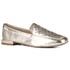 Loafer Rebeca Detalhe Pala Gravação Matelassê Ouro Light Em Couro