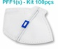 Respirador Descartável Tipo PFF1 (S) Branco - Caixa com 100 un.