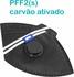 Respirador Descartável Tipo PFF2 (S) Preto Carvão Ativado - Kit com 10 un.