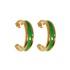 Brinco Argola Coleção Summer Semijoia Banho de Ouro 18K Resina Verde