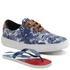 Kit Sapatênis Floral Polo North Com Chinelo Infantil Azul