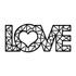 Escultura de Parede Love Geométrico