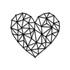 Escultura de Parede Coração Abstrato Geométrico