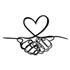 Escultura de Parede Mãos Coração