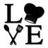Escultura de Parede Love Gourmet