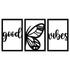 Kit Esculturas de Parede Good Vibes