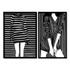 Kit Esculturas de Parede Mulher Vestido Listrado