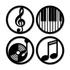 Kit Esculturas de Parede Música