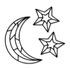 Kit Esculturas de Parede Lua Estrelas