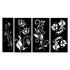 Kit Esculturas de Parede Quadros Flores
