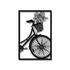 Escultura de Parede Quadro Bicicleta Flores