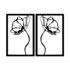 Kit Esculturas de Parede Rosas Espelhadas